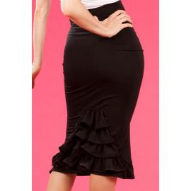 high waist elegant black