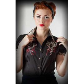 Blouse heaven n hell leo patch
