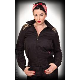 Ladies workerjacket with leo patch