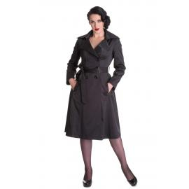 Hell bunny coat Bacall trench coat black