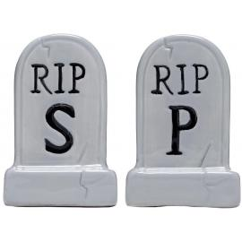 Salt pepper tombstones