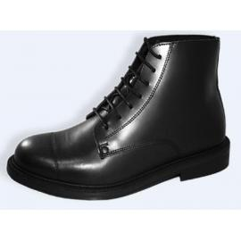 Classic boot black box leather laces