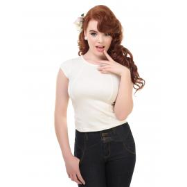 Alice plain t shirt ivory