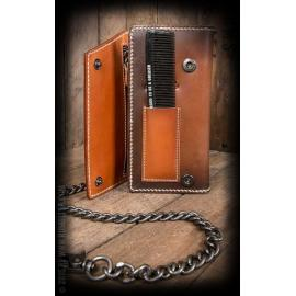 Leather wallet comb