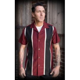 Classic shirt two stripes red wine