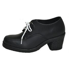 Heel creeper sole black vegan