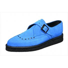 pointed creeper monk shoe, royal blue suede