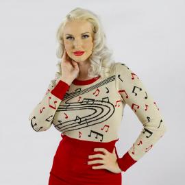 Crazy Rock N Roll Ladies Sweater