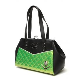 Elva femme fatale kiss lock black matte and lime sparkle