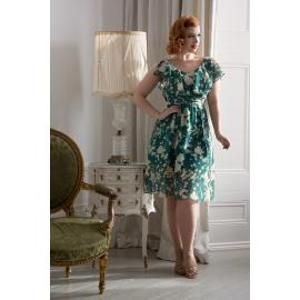 Agatha Green Floral Dress