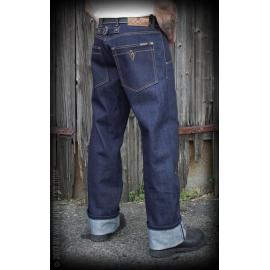 Jeans RAW Selvage 21oz Denim - Blue Steel