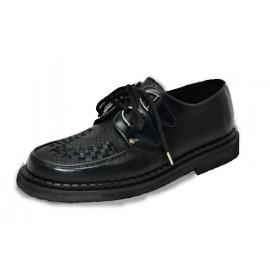Low creeper sole, black box/black snake leather