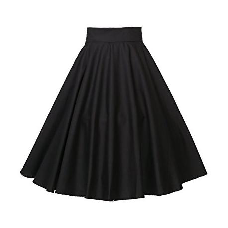 Circle skirt in black