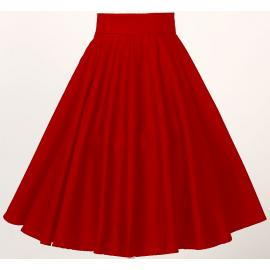 Circle skirt in red
