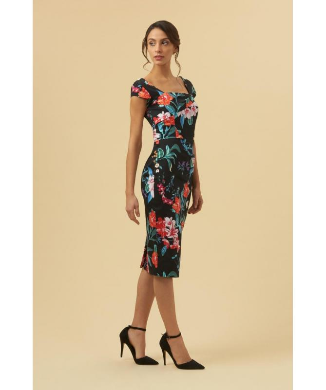 ee09d6f23cb Ashlyn Hibiscus Pencil Dress