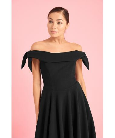 b719567f1b7a Tilly Off The Shoulder Bow Midi Dress
